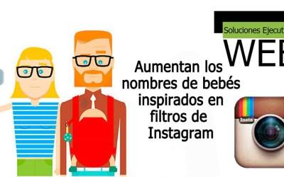 Aumentan los nombres de bebés inspirados en filtros de Instagram
